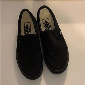 brand new all black slip on vans